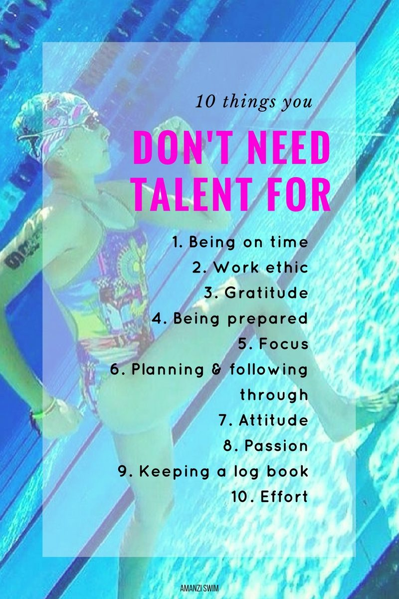 10 Things you DON'T need talent for