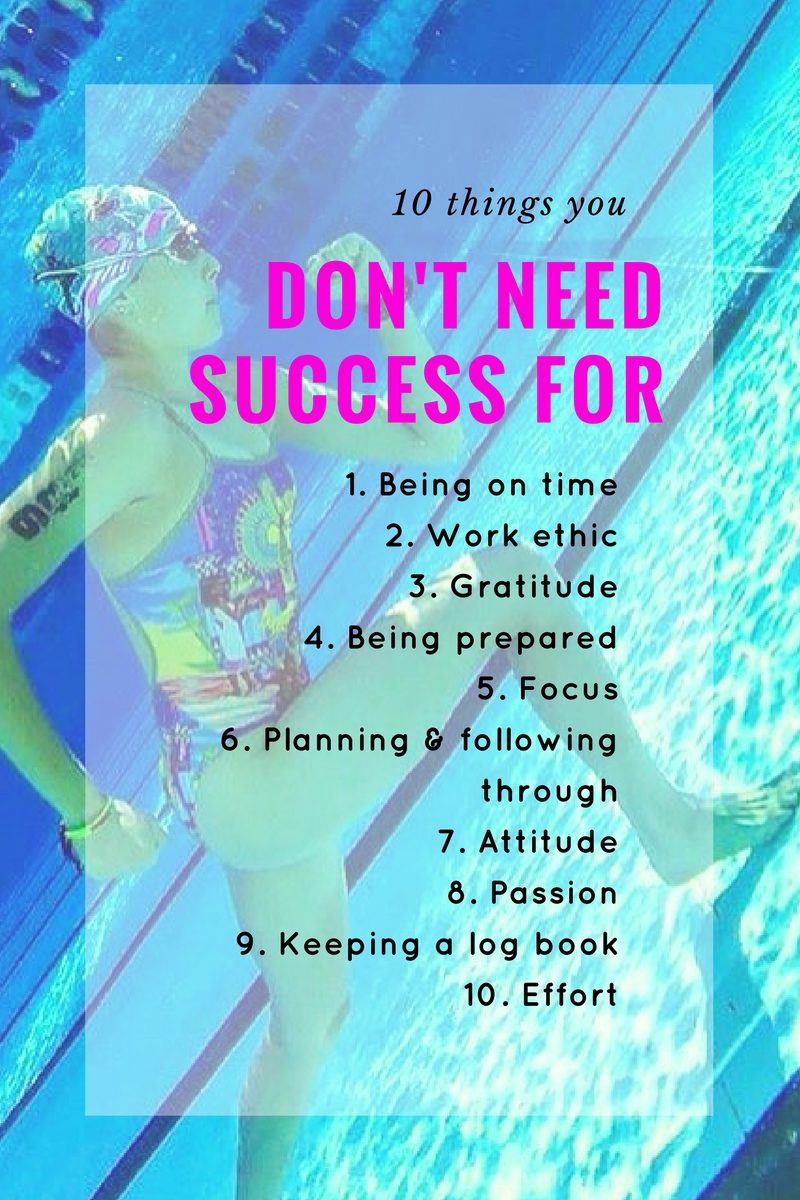 10 Things you don't need success for