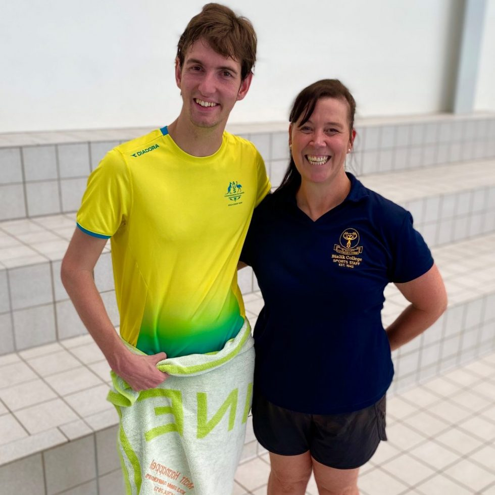 AMANZI Squad Memebers Matt & Danielle Pose for A Photo Together After a Swim Camp