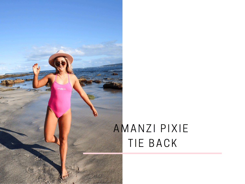 Pretty in Pink! Milly Play's around in her Pink Pixie Tie Back as she show's us her AMANZI Swimwear Haul.